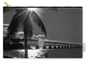 Tropical Bridge In Black And White Carry-all Pouch