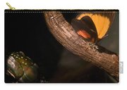 Tropical Butterfly And Rhinoceros Beetle Carry-all Pouch