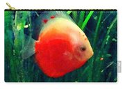 Tropical Discus Fish Carry-all Pouch by Amy Vangsgard