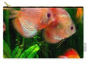 Tropical Discus Fish Group Carry-all Pouch
