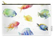 Tropical Fish Round Carry-all Pouch