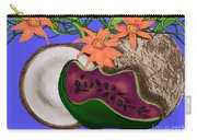 Tropical Fruit Carry-all Pouch by Christine Fournier