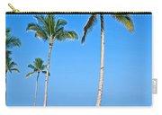 Tropical Island Beach And Sidewalk Art Prints Carry-all Pouch