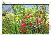 Tropical Red Against Cool Mountain Mists Carry-all Pouch