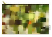 Tropical Shades - Green Abstract Art Carry-all Pouch