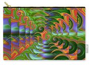 Tropical Swirls Layered Carry-all Pouch