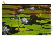 Tropical Water Lily Flowers And Pads Carry-all Pouch