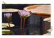 Tropical Waters Floral Charm Carry-all Pouch
