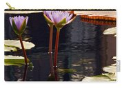 Tropical Waters Floral Charm -- Version 2 Carry-all Pouch