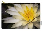 Tropical White Water Lily Carry-all Pouch