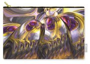 Tropical Wind Painted Abstract Carry-all Pouch