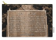 Troup Factory Historical Marker Carry-all Pouch