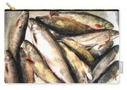 Trout Digital Painting Carry-all Pouch by Barbara Griffin