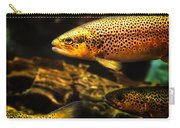 Trout Swiming In A River Carry-all Pouch