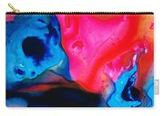 True Colors - Vibrant Pink And Blue Painting Art Carry-all Pouch