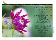 True Face - Poem - Flower Carry-all Pouch