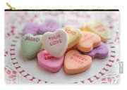 True Love Valentine Candy Hearts Carry-all Pouch
