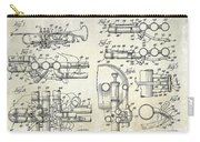 Trumpet Patent Drawing Carry-all Pouch