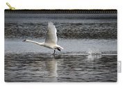 Trumpeter Swan Walking On Water Carry-all Pouch