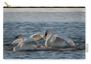 Trumpeter Swans Playing Tag Carry-all Pouch