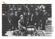 Tucson Police Department  On Steps Of City Hall With 1st Police Motorcycle C. 1917 Tucson Arizona Carry-all Pouch