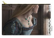 Tudor Woman Spying Through A Window Carry-all Pouch