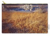Tufa And Frozen Grass-sq Carry-all Pouch