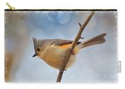 Tufted Titmouse - Digital Paint II With Frame Carry-all Pouch