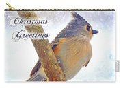 Tufted Titmouse Christmas Card Carry-all Pouch