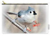 Tufted Titmouse Love  Carry-all Pouch