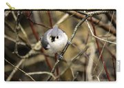 Tufted Titmouse On The Watch Carry-all Pouch