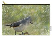 Tufted Titmouse With Decorations Carry-all Pouch
