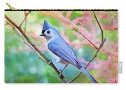 Tufted Titmouse With Spring Booms - Digital Paint II Carry-all Pouch