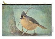 Tufted Titmouse With Verse IIi Carry-all Pouch