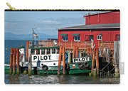 Tug Boat Pilot Docked On Waterfront Art Prints Carry-all Pouch