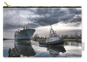 Tugboat Pulling A Cargo Ship Carry-all Pouch