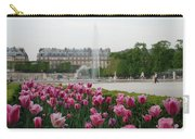 Tuileries Garden In Bloom Carry-all Pouch by Jennifer Ancker
