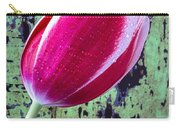 Tulip Against Green Wall Carry-all Pouch