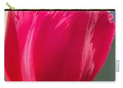 Tulip On The Gray Background Carry-all Pouch