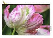 Tulip Time Pink And White Carry-all Pouch