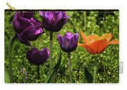 Tulip Time Purple And Orange Carry-all Pouch