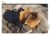Tulip Tree Leaf - Frozen Raindrops In The Sunshine Carry-all Pouch