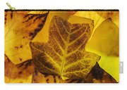 Tulip Tree Leaves In Autumn Carry-all Pouch