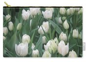 Tulip White Show Flower Butterfly Garden Carry-all Pouch