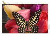 Tulips And Butterflies Carry-all Pouch