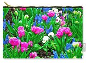 Tulips And Pansies And Grape Hyacinth By Lutheran Cathedral Of Helsinki-finland Carry-all Pouch