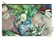 Tulips And Snowdrops Carry-all Pouch by Julia Rowntree