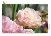 Tulips Flowers Garden Art Prints Pink Tulip Floral Carry-all Pouch