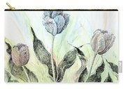 Tulips In Ink Carry-all Pouch