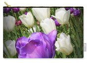 Tulips In Purple And White Carry-all Pouch